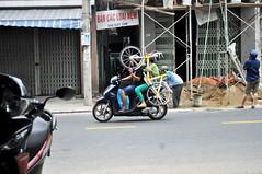Bike on bike (Roving I) Tags: bicycles bikes motorbikes motorcycles transport loads street danang vietnam