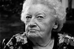 Says who? (Abby Matheson) Tags: grandma winnipeg blackandwhite monochrome lines wrinkles portrait protraiture canada manitoba family birthdays