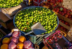 Fruits at Seeb Souk Friday market (Faraz Tareen) Tags: muscat oranges middleeast beach strawberries tomatoes oman nature market fuji lemons souk fruits seeb fujifilm x100t