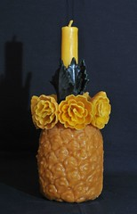 Bees wax Candle Oaxaca Mexico (Teyacapan) Tags: pina pineapple beeswax roses candles velas oaxacan mexican zapotec teotitlan crafts
