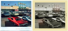 Mall Polaroid and Photograph (gpholtz) Tags: diorama miniatures 118 diecast 1967 oldsmobile 442 impala