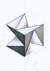 20161226 (regolo54) Tags: polyhedra solid geometry symmetry pattern handmade escher pastel hexagon triangle mathart regolo54