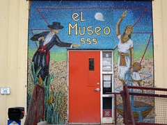 New Decorative Entry For El Museo Cultural (suenosdeuomi) Tags: entry mural art museocultural railyard santafe newmexico canons90