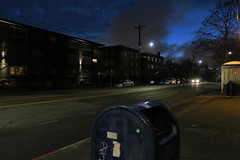 Top of the Hill (Blinking Charlie) Tags: eunionstreet evening dusk twilight gloaming centraldistrict centralarea mailbox urbanlandscape brickbuildings apartments canonpowershotg9x seattle washingtonstate usa 2017 blinkingcharlie