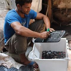 Jobs in India (Wanda Amos@Old Bar) Tags: india work jobs employment recycling ewaste keyboard dismantling sorting