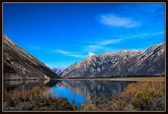 Southern Alps, New Zealand. (Thor Hilmarsson) Tags: newzealand nikond80 mountain alps lake sky reflection mirror highland bright