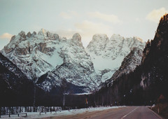 Grand Tour - Alto Adige (Sofia Podestà) Tags: landscape mountain snow winter 2017 sudtirol durrensee cold sunshine sunset trees woods forest road travel adventure hike outdoor drive cabin 35mm kodak analog canonae1 expired dreamy dream dreamscape dolomiti dolomites alps alpi sofia podestà sofiapodesta italy montagne paesaggio strada montagna
