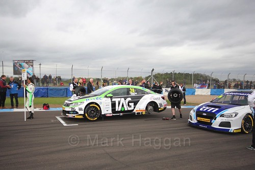 Jake Hill on the grid before race two at the British Touring Car Championship 2017 at Donington Park
