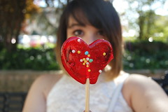 Candy lover (Irene Kenway) Tags: candy heart self portrait lollipop sweet park 52 weeks project