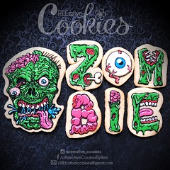 ZombieComplete (cREEative_Cookies) Tags: creeatve cookies ree halloween hallows dia delos muertos candy skulls typography sugar art decorated cookie decorating party theme desserts holiday dessert zombie eyeball nightmare before christmas jack skellington sandy cupcakes spiders pumpkins jackolanterns leaves platter ghosts corn bats blood bloody cut finger ears butcher 3d