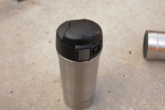 Thermos insulated bottle on concrete (yourbestdigs) Tags: water bottle travel mug coffee thermos hot drink drinks beverage bottles mugs office leak stainless steel insulated warm liquid food lid lids tea hydration morning breakfast drinking exercising