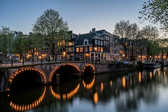 Canals of Amsterdam (Sam-H-A) Tags: canals amsterdam keizersgracht sony zeiss batis225 a7rii sonya7rii batis25 batis25mm lowlight evening thenetherlands longexposure