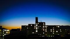 (takashi ogino) Tags: pentax q7 digital justpentax 01standardprime sky blue night color scenery cityscape landscape orange light