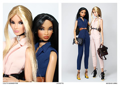 Imogen & Colette (L.Royalty55) Tags: nuface nu face colette duranger perk imogen bedaring wclub fashionroyalty fr integritytoys it doll toy shantommo ryanliang