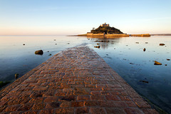 Causeway to St Michael's Mount (Andrew Hocking Photography) Tags: stmichaelsmount mount marrazion cornwalll kernow outdoor landscape magical dreamscape summer sunshine nautical marine mythology path leadin wideangle cobbles cobble stones