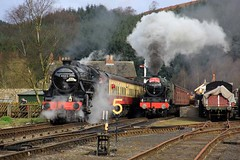 Royal Scot Event - NYMR - 2017-04-02 (BillyGoat75) Tags: lms black5 45212 bloodcustards steamengine locomotive levisham nymr northyorkshiremoorsrailway northyorkshire royalscotclass 46100 royalscot