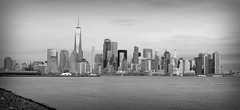 NYC Skyline (Alexander Day) Tags: new york city vignette blackandwhite hudson river water sky skyline architecture buildings skyscrapers alex day alexander liberty state park jersey world trade center one
