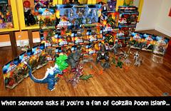 TRENDMASTERS Godzilla Doom Island Collection Meme (TRENDMASTERS) Tags: trendmasters godzilla doom island dinosaur ghidorah megamutation destroyah destoroyah trex stegosaurus mechagodzilla mecha king jonathan shyman