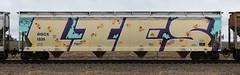 Lies (quiet-silence) Tags: graffiti graff freight fr8 train railroad railcar art lies rtd wholecar hopper ggcx ggcx1335