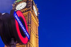 Big Ben (iankent1963) Tags: underground bigben clock nikond5100 nikon nightshot westminster london travel noperson