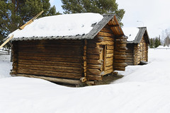 From the past in Sweden (Helen Lundberg Photography) Tags: att gã¶ra jukkasjarvi sweden swedishlapland winter snow old historical openairmuseum nostalgic north building house architecture wooden history thepast