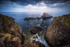 Blurred Horizons (Augmented Reality Images (Getty Contributor)) Tags: canon cliffs clouds coastline colours landscape leefilters littlestopper longexposure morayfirth portknockie rocks scotland water waves