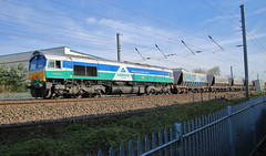 66711 Sence (aledy66) Tags: diesel freight train loco locomotive canon eos 70d railway railroad 6m79 1156 angerstein wharf gbrf bardon hill 66711 sence