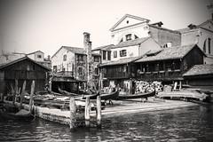 Venice (Heath James) Tags: black white sepia venice italy gondola boat canal grand canon ef24105mm f4 is 50d monochrome mono rialto bridge