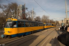 Tatra T4D der Leipziger Verkehrsbetriebe (Vitalis Fotopage) Tags: leipzig leipziger sachsen verkehrsbetriebe deutschland tatra t4d strassenbahn tram public transport