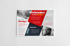 Creative Trifold Brochure (Snowboy Design) Tags: ad advertising agency bold brochure business businessbrochure colors corporate creative design graphic keyvisual magazine market marketing multipurpose office print promotion red retro serif solution template trifold universal vintage working