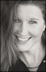 (Cliff Michaels) Tags: nikon photoshop pse9 girl portrait headshot angela bw black white