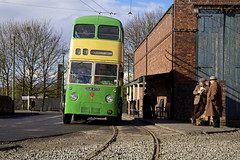 'Black Country II' (andrew_@oxford) Tags: black country living history museum trolleybus bus stop reenactors reenacment timeline events