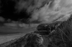 Bunker (selvagedavid38) Tags: black white mono coast bunker ww2 war defence beach invasion dday belgium atlantic wall military