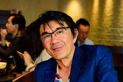 My friend Yasu Iwai : 友人のヤス岩井氏 (Dakiny) Tags: 2017 spring april japan tokyo shibuya shibuyacenterstreet city street people portrait man nikon d7000 sigma 1770mm f284 dc macro os hsm sigma1770mmf284dcmacrooshsm nikonclubit