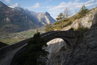Hoochi Brigga (Hohe Brücke, between Getwing and Erschmatt VS)
