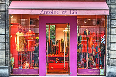 made with love (albyn.davis) Tags: paris france europe shop store storefront travel vacation color colorful lavender purple bright vivid vibrant windows doors clothes fashion