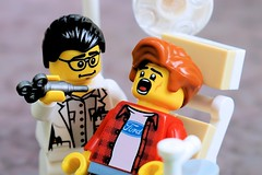 Cooperative dental patient (Lesgo LEGO Foto!) Tags: lego minifig minifigs minifigure minifigures collectible collectable legophotography omg toy toys legography fun love cute coolminifig collectibleminifigures collectableminifigure dental dentist treatment patient client tooth