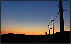 Alto del perdón. (Gurutx) Tags: molinosdeviento nafarroa elperdón navarra euskadi mountain monte montaña paísvasco sunset anochecer