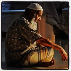 Devotee at Bait Ur Rouf Mosque (shahidul001) Tags: instagramapp square squareformat iphoneography uploaded:by=instagram lofi