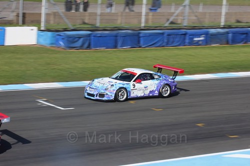 David Fairbrother in the Porsche Carrera Cup Race One during the BTCC Weekend at Donington Park 2017: Saturday, 15th April
