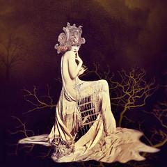 Warrior Woman ('_ellen_') Tags: warrior woman night trees branches purple royal headress helmut headpiece head piece contemporary