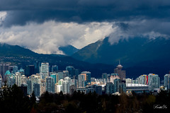 Cloudy city 山雨欲來 (T.ye) Tags: cloudy rain rainy mountain city landscape vancouver urban