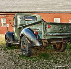 41' GMC_175264 (rjmonner) Tags: vehicle relic classic rural rusted restore restorable tires axle tailgate fender mirror hubcap gmc pickup runningboard barn farm farmyard midwest cornbelt