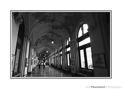 Keleti pályaudvar (railway station) (++Rob++) Tags: boedapest budapest hungary hongarije blackwhite zwartwit trainstation trains treinen railway spoorweg