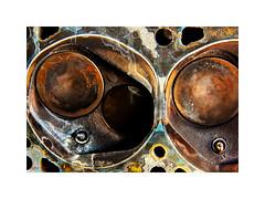 valve life... (Stu Bo) Tags: engine 351cleveland work machine musclecar mustanglust vivid vintage oldschool sbimageworks light shadows classiccar colorful colors restore head