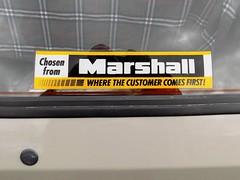 1989 AUSTIN 998cc METRO CITY G412GFL (Midlands Vehicle Photographer.) Tags: 1989 austin 998cc metro city g412gfl dealers decal sticker marshall