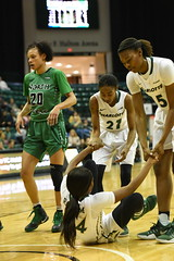 WBasketball-vs-North Texas, 1/26, Chris Crews, DSC_4957 (PsychoticWolf) Tags: 49ers basketball charlotte cusa d1 green mean ncaa ninermedia north nt texas unc uncc unt womens