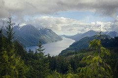 Coastal Paradise (Philip Schulze) Tags: lookout coastalforest inlet ocean mountains rainforest trees valley viewpoint