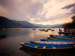 Sunset over Lake Phewa, Pokhara, Nepal (CamelKW) Tags: abc annapurnabasecamptrek annapurnaregiontrek annapurnasanctuary fishtail kathmandu mbc machapuchare machapucharebasecamp nepal pokhara trekking sunset lakephewa