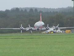 9G-LCA (IndiaEcho Photography) Tags: 9glca canadair cl440 guppy first air johnsons eghh boh bournemouth international airport hurn dorset england